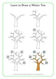 Learn To Draw A Winter Tree