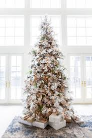 Hayneedle Flocked Christmas Trees by Decorated Flocked Christmas Trees Psoriasisguru Com