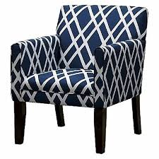 French Accent Chair Blue by Navy Blue And White Accent Chair Torahenfamilia Regarding Awesome