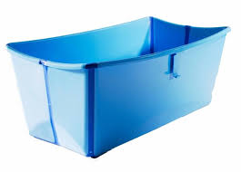 portable bathtub with water