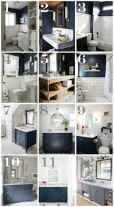 Gray And Yellow Bathroom Decor Ideas by Navy Bathroom Decorating Ideas With Blue Walls And Vanities Navy