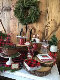 Dessert Table Details From A Vintage Rustic Plaid Christmas Party On Karas Ideas