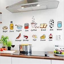 1pc Vegetables Cartoon Wall Sticker Restaurant Hotel Pizza Shop Window Glass Decor Home Cabinet Tile Stickers