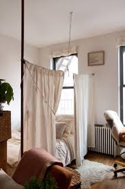 Panel Curtain Room Divider Ideas by Studio Apartment Divider Ideas Curtain Separator For Condo Saving