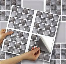 4 tile transfer stickers 6 x 6 graphite mosaic for kitchen