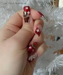 deco ongle gel noel dernier nail de noel participation concours vos ongles en