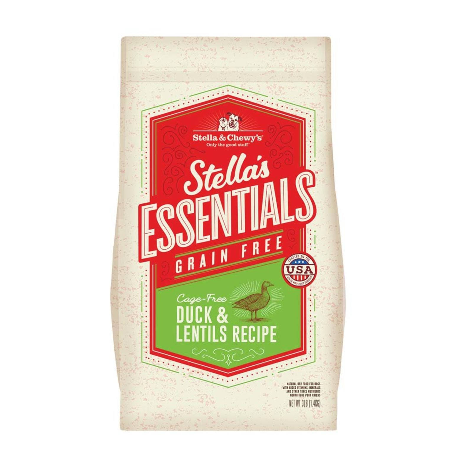 Stella & Chewy's Essentials Grain Free Cage-Free Duck & Lentils Dog Food 25-lb