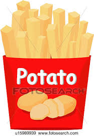 Clip Art french fries fastfood fast food cuisine potato food