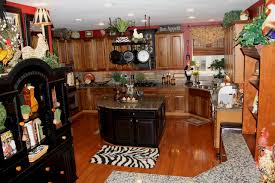 Red Black Themed Kitchen Traditional