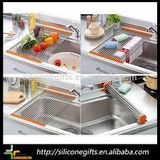 Modern Kitchen Drying Rack 15 Tubes Stainless Steel Dish Rack