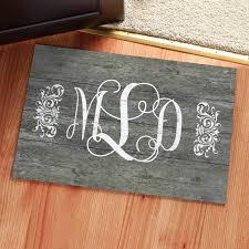 Vintage Wood Monogram Personalized Doormat