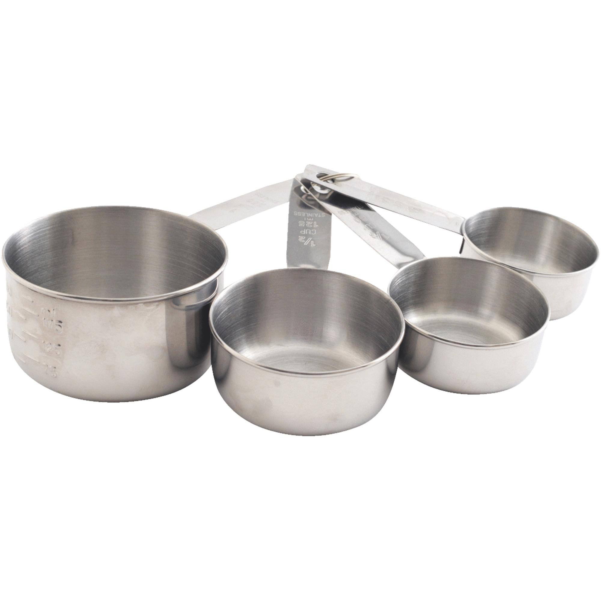 Norpro Measuring Cup Set - 4pcs, Stainless Steel