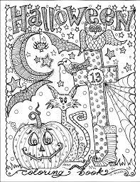 HALLOWEEN Abstract Doodle Zentangle ZenDoodle Paisley Coloring Pages Colouring Adult Detailed Advanced Printable Kleuren Voor Volwassenen