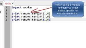 Random Numbers In Python