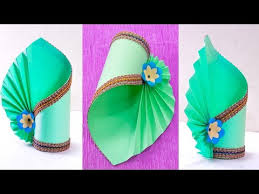 How To Make A Flower Vase At Home Simple Paper Craft Making