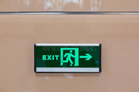 exit light stock image image of evacuate illuminated 50121207
