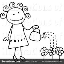Gardening Clipart Black And White