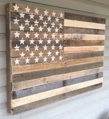 Astounding Inspiration Rustic American Flag Wall Art Home Designing Regarding