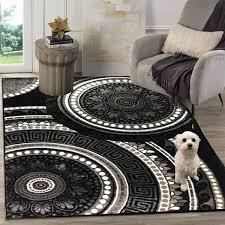 siela teppich wohnzimmer schwarz kurzflor teppich küchenteppich teppiche für schlafzimmer