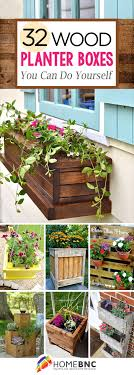 32 Easy DIY Wood Planters