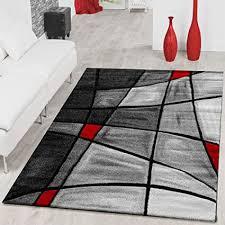 t t design teppiche wohnzimmer teppich porto konturenschnitt in grau rot schwarz ausverkauf größe 80x150 cm