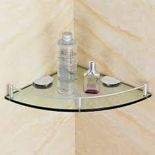 details zu badezimmer bad dusche ecke gla regal caddy rack organizer halter brett w f t