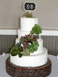With Their Initials On It And The Bride Bought Succulents At Michaels My Husband Did Stand For Me Simple Easy Scratch Lemon Cake