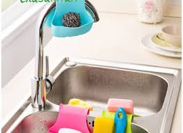 amazoncom buytra sponge holder kitchen sink caddy suction cup