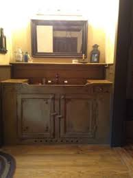 love this dry sink vanity primitive decorating ideas