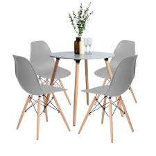 Amazon.com - HOMY CASA Dining Table Set With 4 Chairs - Table ... Kitsch Round Glass Table Set Of 4 Chairs Dfs Ireland Mcombo Mcombo Ding Side 4ding Clear Ingatorp And Chairs White Ikea Cally Modern Table With La Sierra Fniture Grindleburg 60 Woodstock Carisbrooke Barker Stonehouse Dayton 48 Upholstered Shop Hlpf5cap 5 Pc Small Kitchen Setding Hanover Traditions 5piece In Tan A Jofran Simplicity Chair Slat Back Pier 1 W Aptdeco Rovicon Lulworth Pedestal
