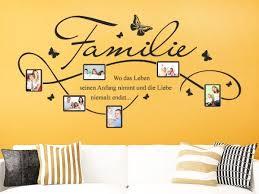 stylisches fotorahmen wandtattoo für die ganze familie