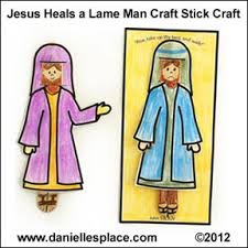 Jesus Heals The Paralytic Bible Craft For Childrenes Ministry Daniellesplace