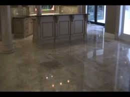 cleaning and polishing of travertine