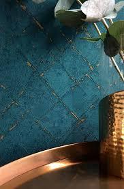 vliestapete raute abstrakt blau gold 36881 5