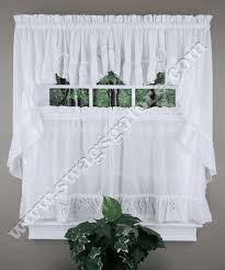 White Eyelet Kitchen Curtains by 16 Best Sheer Kitchen Curtains Images On Pinterest Curtains