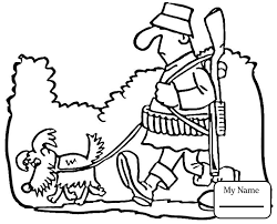 Coloring Pages For Kids Dog Got His Bones Activities Hunting