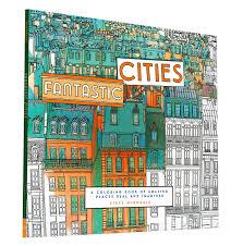 Coloring Book Adults Fantastic Cities Steve Mcdonald 30