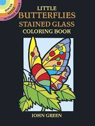 Adults Coloring Books Little Butterflies Stained Glass Paperback