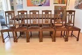 6 antike holz leder stühle esszimmer stuhl jugendstil