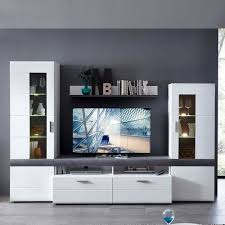 tv wand loesia in weiß 4 teilig
