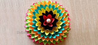 Wall Decoration Ideas To Make Paper Floral Craft For Your Walls