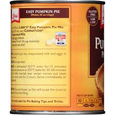 Libbys Pumpkin Muffins Calories by Libby U0027s Easy Pumpkin Pie Mix 30 Oz Can Walmart Com