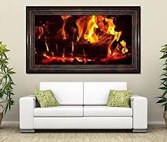 3d wandtattoo feuer lagerfeuer kamin flamme holz selbstklebend wandbild wohnzimmer wand aufkleber 11l512 wandbild größe f ca 97cmx57cm