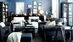 Awesome Black And Blue Living Room Ideas White Sofa Decorating Decoration Furniture