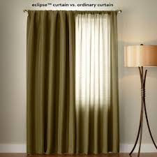 120 Inch Length Blackout Curtains by Eclipse Microfiber Blackout Chocolate Grommet Curtain Panel 63 In
