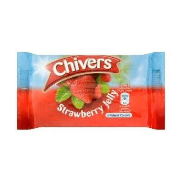 Chivers Jelly Strawberry Packet 12packs