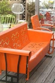 Veranda Metal Patio Loveseat Glider by Outdoor Sofa Glider Foter
