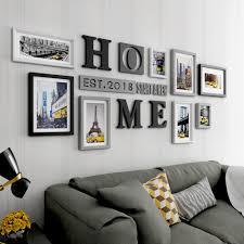 bilderrahmen collage kreative große größe wohnzimmer