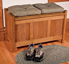 free plans arts and crafts storage bench finewoodworking
