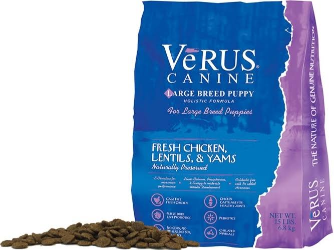 Verus Large Breed Puppy Formula Dry Dog Food, 15-lb